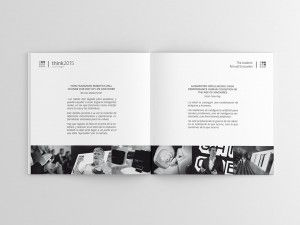 Diseño Booklet Think 2015 with Google